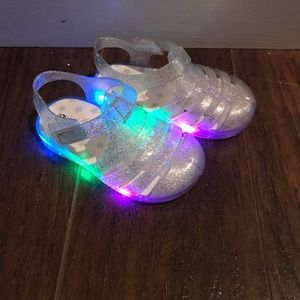 Toddler Light up Jelly Sandals 6c